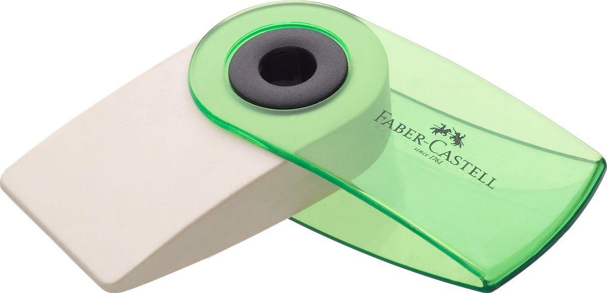 Faber-Castell Ластик Sleeve Mini665-SBЛастик Faber-Castell Sleeve Mini имеет эргономичную форму. Пластиковый подвижный колпачок защищает ластик от загрязнения.Ластик не содержит ПВХ. Три трендовых цвета в ассортименте.Уважаемые клиенты!Обращаем ваше внимание на цветовой ассортимент товара. Поставка осуществляется в зависимости от прихода товара на склад.