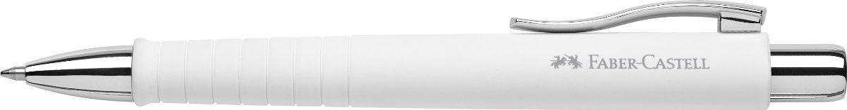 Faber-Castell Ручка шариковая Poly Ball XB цвет корпуса белый72523WDШариковая ручка Faber-Castell Poly Ball XB имеет запатентованную антискользящую зону захвата с малыми массажными шашечками. Эргономичная трехгранная форма, качественный нажимной механизм и упругий клип обеспечат комфорт при использовании ручки. Пригодна для письма на документах.Особенности: наконечник и выдвижной колпачок наконечника из металла система, предотвращающая поломку грифеля оптимальная толщина грифеля 0,7 мм качественный, длинный, выдвижной ластик, защищенный колпачком система автоматической подачи грифеля