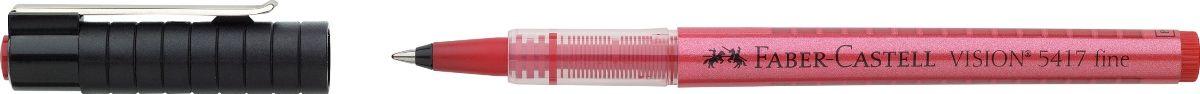 Faber-Castell Ручка-роллер Vision 5417 красная72523WDШариковая ручка-роллер Faber-Castell Vision 5417 имеет высококачественные, не выцветающие пигментные чернила, соответствующие сертификату DIN ISO 14145/2.Особенности: равномерное письмо благодаря системе плавной дозировки чернил пригоден для письма на документах окошко для проверки уровня чернил шариковый тонкий наконечник 0,4 мм3 цвета чернил