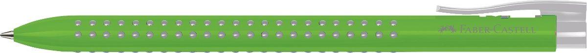 Faber-Castell Ручка шариковая Grip 2022 цвет корпуса салатовый72523WDШариковая ручка Faber-Castell Grip 2022 имеет запатентованную антискользящую зону захвата с малыми массажными шашечками. Эргономичная трехгранная форма, качественный нажимной механизм и упругий клип обеспечат комфорт при использовании ручки. Пригодна для письма на документах.Особенности: наконечник и выдвижнойколпачок наконечника из металла система, предотвращающая поломку грифеля оптимальная толщина грифеля 0,7 мм качественный, длинный, выдвижной ластик, защищенный колпачком система автоматической подачи грифеля