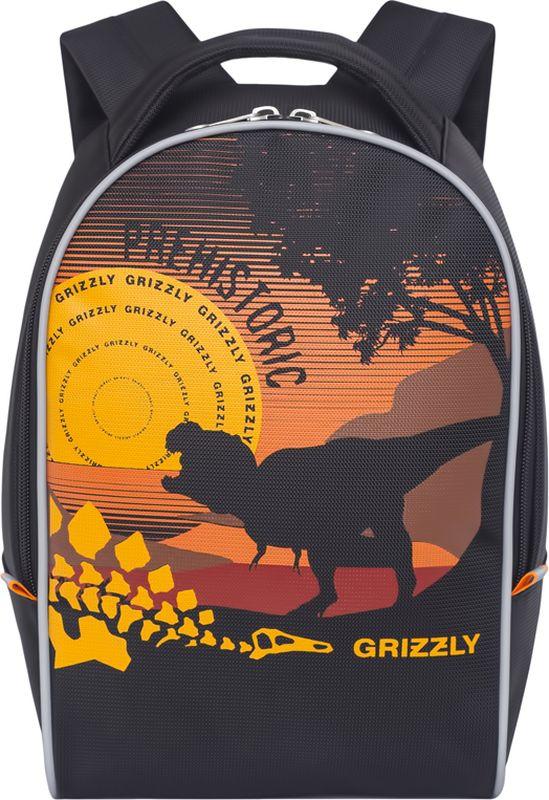 Grizzly Рюкзак дошкольный цвет черный RS-734-6/1CRCB-RT2-880Рюкзак дошкольный Grizzly изготовлен из высококачественного износоустойчивого материала с водоотталкивающей пропиткой. Рюкзак имеет одно вместительное отделение. Снаружи находятся светоотражающие вставки, делая ребенка заметным на дороге в темное время суток, благодаря чему его путь становится безопаснее. Мягкие регулируемые по высоте лямки обеспечат комфорт при носке, а так же рюкзак будет удобно подвесить на крючок благодаря петле для подвешивания сверху. Рюкзак оформлен ярким веселым принтом, который обязательно понравится ребенку.
