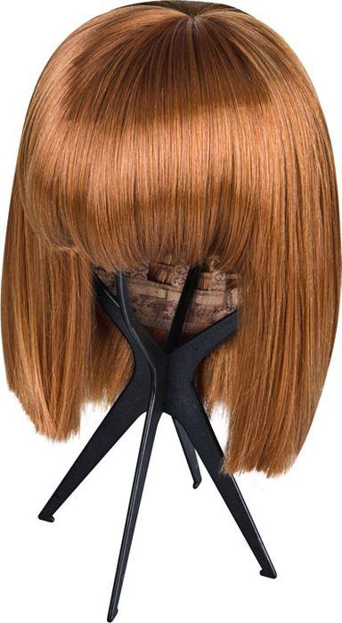 Складная подставка для парика, цвет черный. Размер универсальный. EF-WS033078Удобная складная подставка для демонстрации и хранения париков, сделанная из крепкого, но легкого пластика. Подставка очень проста в сборке и удобна в использовании. Отлично подходит для демонстрации париков в торговых залах, а также для сохранения презентабильного вида париков в домашних условиях.