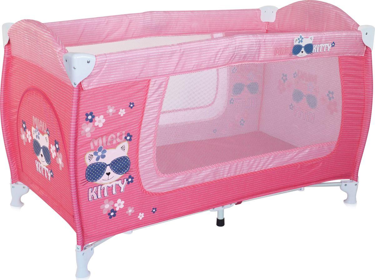 Lorelli Манеж Danny 1 цвет розовый54 009303Детский манеж-кровать для детей от 6 мес. до 3 лет. Яркие расцветки, приятны для мамы и малыша. Манеж безопасен для игр и сна малыша, надежная установка и безопасность. Размеры манежа 120х60х72 см. вес 8,4кг. Манеж имеет боковой лаз на молнии, легкую систему складывания и раскладывания. Сумку - чехол для переноски манежа. Матрасик в комплетке на дно манежа.