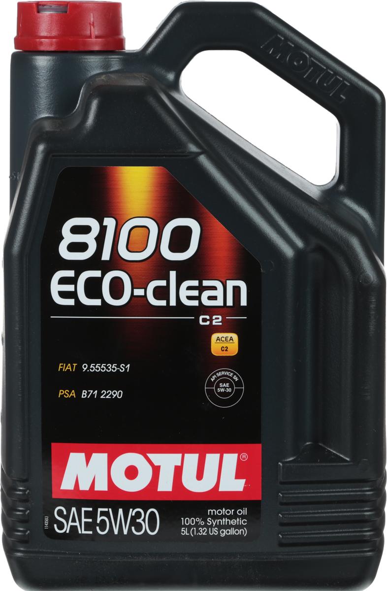 Масло моторное Motul 8100 Eco-Clean, синтетическое, 5W-30, 4 л6280LKВысокотехнологичное 100% синтетическое энергосберегающее моторное масло. Специально разработано для автомобилей последнего поколения, оснащенных бензиновыми и дизельными двигателями, в том числе с непосредственным впрыском, отвечающих требованиям норм Евро IV и Евро V и требующих использования в них масла стандарта ACEA C2: масла с низкой высокотемпературной вязкостью HTHS (менее 3,5 mPa/s), сниженным содержанием сульфатной золы (0,8%), фосфора (0.07%-0.09%), серы (0.3%) - Mid SAPS. Совместимо со всеми типами бензиновых и дизельных двигателей, в которых предусмотрено использование энергосберегающего масла: стандарты ACEA С2 или A5/B5. Масло имеет одобрения PSA B71 2290 от Peugeot Citroen Automobile. Совместимо с каталитическими нейтрализаторами и сажевыми фильтрами системы очистки выхлопных газов. Некоторые двигатели не предназначены для использования в них данного типа масел, поэтому перед использованием этого продукта необходимо ознакомиться с руководством по эксплуатации автомобиля. ACEA Стандарты: ACEA C2API Стандарты: API SN/CFОдобрения: PSA B71 2290; FIAT 9.55535-S1