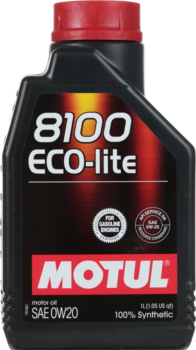 Масло моторное Motul 8100 Eco-Lite, синтетическое, 0W-20, 1 л2706 (ПО)100% синтетическое энергосберегающее моторное масло для современных бензиновых двигателей Honda, Mazda, Subaru и Toyota, а так же других азиатских производителей, требующих масло класса вязкости 20. API Стандарты: API SERVICES SN; ILSAC GF-5