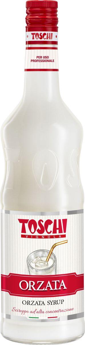 Toschi Оршад сироп миндальное молоко, 1 л0120710Сироп Оршад (Миндальное молоко) Toschi отличается деликатным ароматом миндаля и ванили. Подходит для приготовления лимонадов, кофе, коктейлей, великолепен для добавления в мороженое и холодный чай. О производителе: Компания Тоски Виньола основана в 1945 году как поставщик продуктов питания. Деятельность компании началась с производства фруктов в ликере, далее ассортимент начал включать сиропы, ликеры, вишни в сиропе Amarena, ингредиенты для мороженого и кондитерских изделий, бальзамический уксус и многое другое. За 70 лет развития компания Тоски Виньола значительно расширила ассортимент выпускаемых продуктов. Благодаря высочайшему качеству и использованию натуральных ингредиентов продукция компании Тоски Виньола известна во всем мире. В 2006 году вся продукция Тоски Виньола получила сертификат IFS (Международный пищевой стандарт). Сегодня Тоски Виньола является семейной компанией, ей управляют Джорджио Монторси и Массимо Тоски, которые бережно хранят секреты семейного производства.