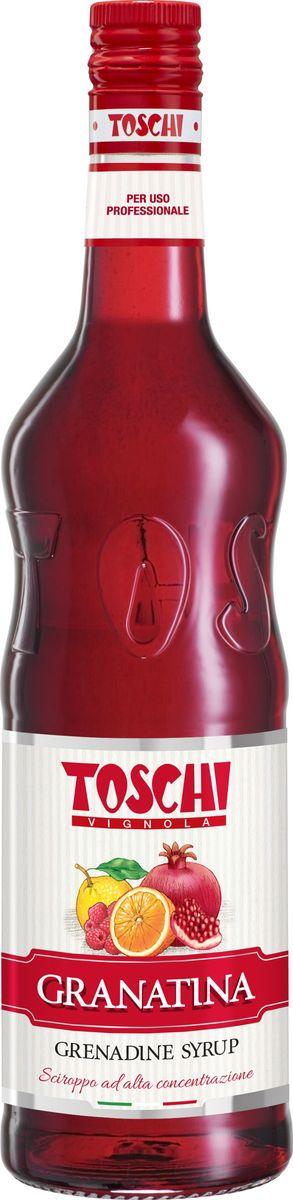 Toschi Гренадин сироп, 1 л0120710Гренадин Toschi отличается рубиновым цветом, ягодным вкусом с легкой кислинкой. Идеален для приготовления слоистых коктейлей, чая и лимонада.О производителе: Компания Тоски Виньола основана в 1945 году как поставщик продуктов питания. Деятельность компании началась с производства фруктов в ликере, далее ассортимент начал включать сиропы, ликеры, вишни в сиропе Amarena, ингредиенты для мороженого и кондитерских изделий, бальзамический уксус и многое другое. За 70 лет развития компания Тоски Виньола значительно расширила ассортимент выпускаемых продуктов. Благодаря высочайшему качеству и использованию натуральных ингредиентов продукция компании Тоски Виньола известна во всем мире. В 2006 году вся продукция Тоски Виньола получила сертификат IFS (Международный пищевой стандарт). Сегодня Тоски Виньола является семейной компанией, ей управляют Джорджио Монторси и Массимо Тоски, которые бережно хранят секреты семейного производства.