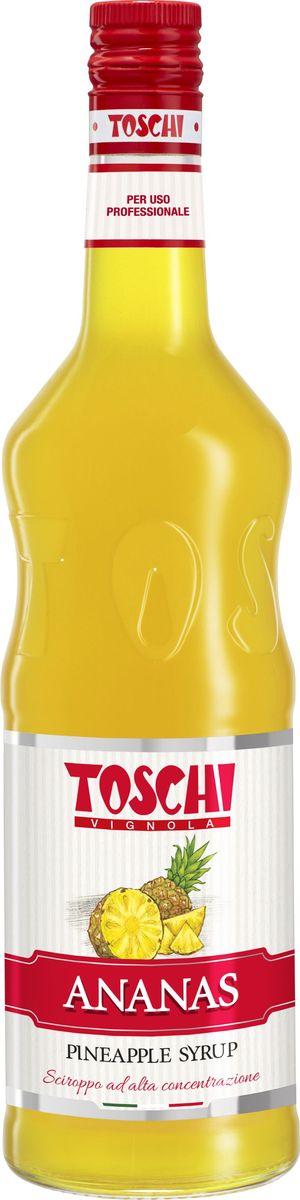 Toschi Ананас сироп, 1 л0120710Сироп Ананас Toschi отличается ярким ароматом и экзотическим вкусом. Великолепен для приготовления коктейлей, молочных шейков, компотов,лимонадов, холодного чая, тортов, пирожных, соусов и фруктовых салатов. О производителе: Компания Тоски Виньола основана в 1945 году как поставщик продуктов питания. Деятельность компании началась с производства фруктов в ликере, далее ассортимент начал включать сиропы, ликеры, вишни в сиропе Amarena, ингредиенты для мороженого и кондитерских изделий, бальзамический уксус и многое другое. За 70 лет развития компания Тоски Виньола значительно расширила ассортимент выпускаемых продуктов. Благодаря высочайшему качеству и использованию натуральных ингредиентов продукция компании Тоски Виньола известна во всем мире. В 2006 году вся продукция Тоски Виньола получила сертификат IFS (Международный пищевой стандарт). Сегодня Тоски Виньола является семейной компанией, ей управляют Джорджио Монторси и Массимо Тоски, которые бережно хранят секреты семейного производства.
