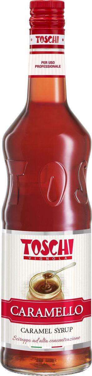 Toschi Карамель сироп, 1 л0120710Сироп Карамель Toschi отличается насыщенным вкусом и ароматом карамели. Подходит для приготовления алкогольных и безалкогольных коктейлей, в качестве дополнения к молочным напиткам, горячему шоколаду, кофе, чаю, мороженому и кондитерским изделиям.О производителе: Компания Тоски Виньола основана в 1945 году как поставщик продуктов питания. Деятельность компании началась с производства фруктов в ликере, далее ассортимент начал включать сиропы, ликеры, вишни в сиропе Amarena, ингредиенты для мороженого и кондитерских изделий, бальзамический уксус и многое другое.За 70 лет развития компания Тоски Виньола значительно расширила ассортимент выпускаемых продуктов. Благодаря высочайшему качеству и использованию натуральных ингредиентов продукция компании Тоски Виньола известна во всем мире. В 2006 году вся продукция Тоски Виньола получила сертификат IFS (Международный пищевой стандарт). Сегодня Тоски Виньола является семейной компанией, ей управляют Джорджио Монторси и Массимо Тоски, которые бережно хранят секреты семейного производства.