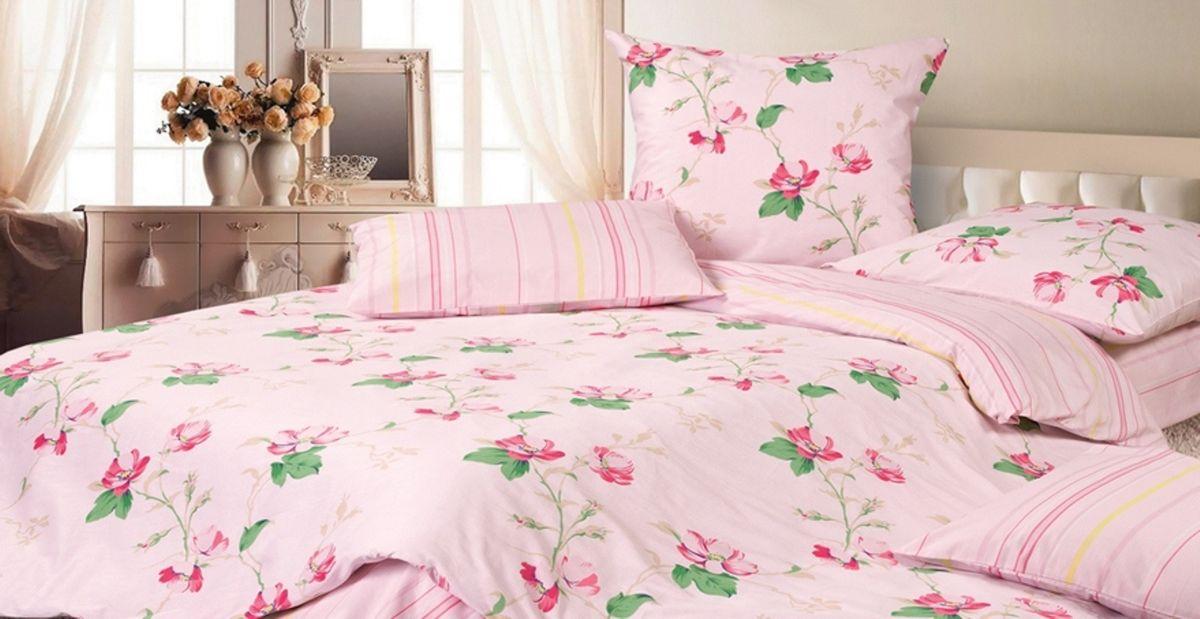 Комплект постельного белья Ecotex Гармоника Аврора, цвет: розовый. ЕвроS03301004Коллекция постельного бельяГармоника от Ecotex — это уникальное сочетание мягкости и нежности благородного сатина со свежестью дизайнерских решений.Коллекция представлена десятками вариантов расцветок, среди которых можно найти как нежные пастельные решения, так и яркие стильные оттенки, паттерны и их оригинальные сочетания. Сатиновая коллекция Гармоника рассчитана на взыскательных потребителей, ценящих стиль, оригинальный дизайн, а также собственный комфорт и нежное прикосновение ткани.