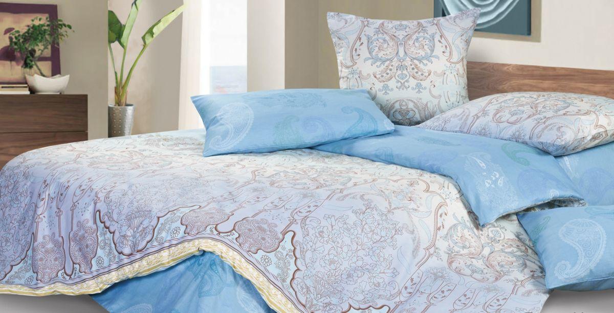 Комплект постельного белья Ecotex Гармоника Тадж-Махал, цвет: голубой. 2-х спальный с простыней ЕвроS03301004Коллекция постельного бельяГармоника от Ecotex — это уникальное сочетание мягкости и нежности благородного сатина со свежестью дизайнерских решений.Коллекция представлена десятками вариантов расцветок, среди которых можно найти как нежные пастельные решения, так и яркие стильные оттенки, паттерны и их оригинальные сочетания. Сатиновая коллекция Гармоника рассчитана на взыскательных потребителей, ценящих стиль, оригинальный дизайн, а также собственный комфорт и нежное прикосновение ткани.