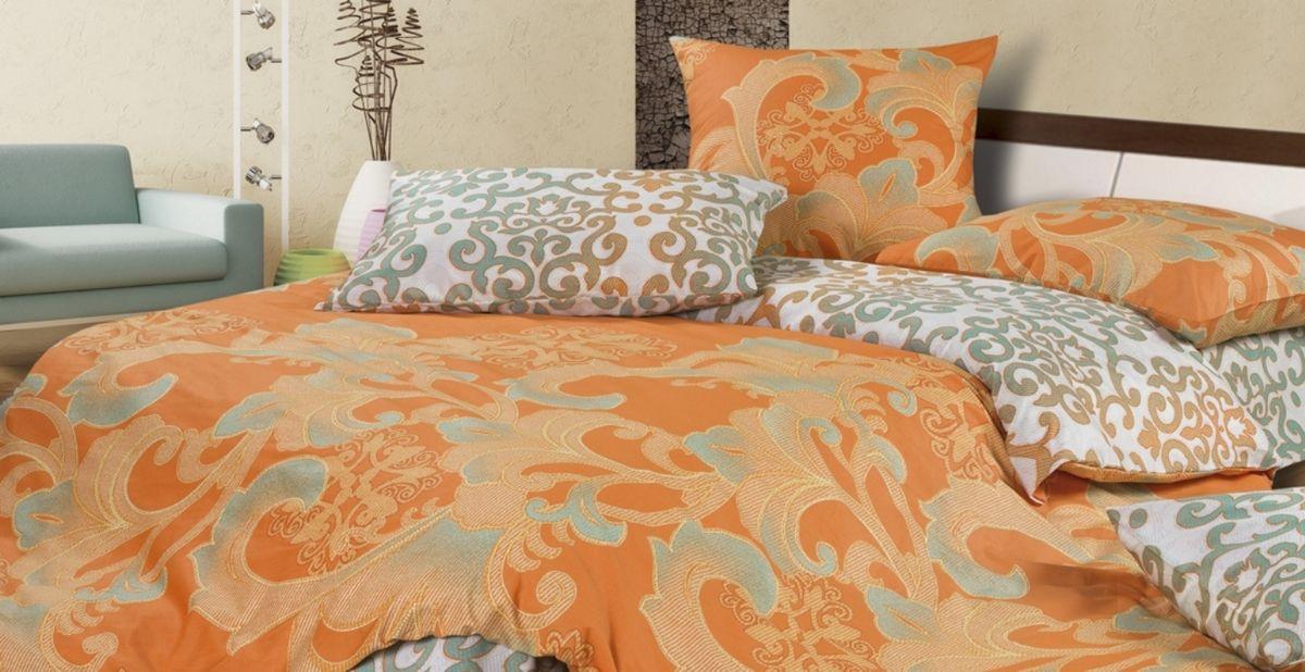 Комплект постельного белья Ecotex Гармоника Баккара, цвет: оранжевый. Евро10503Коллекция постельного бельяГармоника от Ecotex — это уникальное сочетание мягкости и нежности благородного сатина со свежестью дизайнерских решений.Коллекция представлена десятками вариантов расцветок, среди которых можно найти как нежные пастельные решения, так и яркие стильные оттенки, паттерны и их оригинальные сочетания. Сатиновая коллекция Гармоника рассчитана на взыскательных потребителей, ценящих стиль, оригинальный дизайн, а также собственный комфорт и нежное прикосновение ткани.