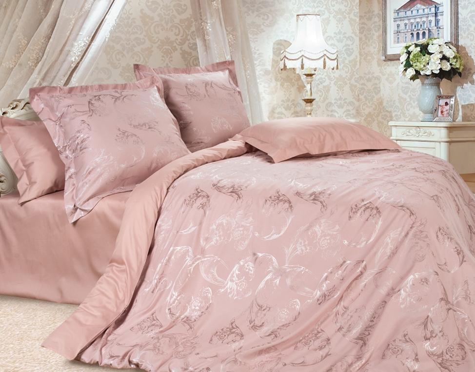 Комплект постельного белья Ecotex Эстетика Джульетта, цвет: розовый. 1,5 спальный10503Изысканная коллекция Estetica из жаккардового сатина — это утонченное удовольствие, рожденное неповторимым сочетанием перламутрового блеска и матовой сдержанности.
