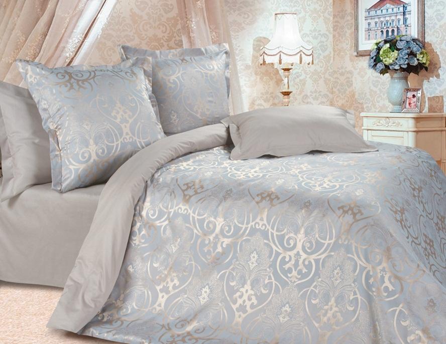 Комплект постельного белья Ecotex Эстетика Глейс, цвет: серый металлик. 2-х спальныйS03301004Изысканная коллекция Estetica из жаккардового сатина — это утонченное удовольствие, рожденное неповторимым сочетанием перламутрового блеска и матовой сдержанности.