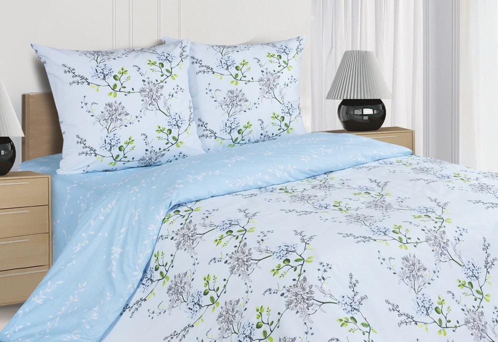 Комплект постельного белья Ecotex Поэтика Аделиза, цвет: голубой. СемейныйS03301004Высококачественный поплин позволяет коже дышать в течение всей ночи, обладает расслабляющим эффектом. Насладившись полноценным сном, Вы проснетесь наутро с новым зарядом энергии и хорошего настроения.