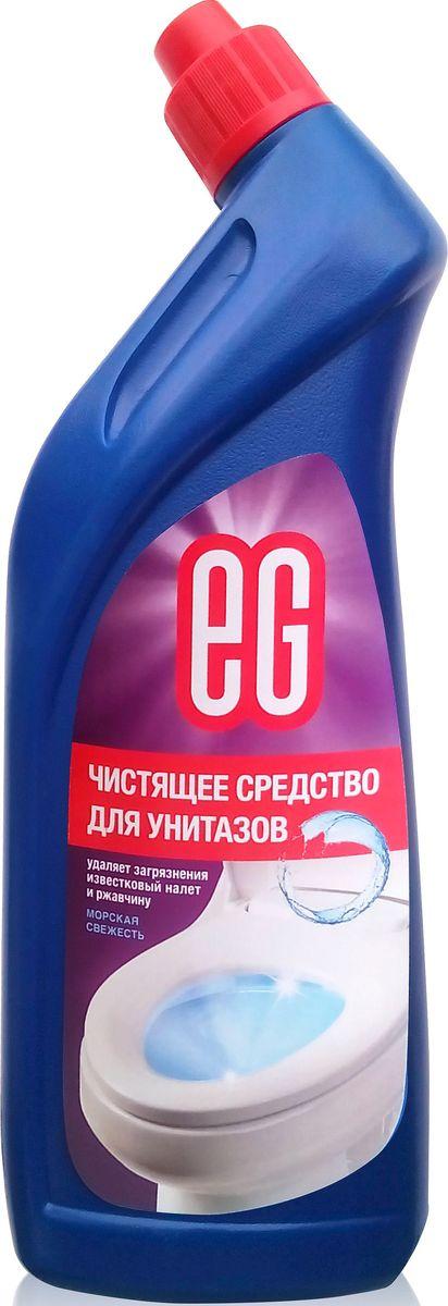 Средство для чистки унитаза EG Еврогарант Морская свежесть, 750 млSS 4041Морская свежесть. Чистящее средство для унитазов - гель. Удаляет загрязнения, известковый налет и ржавчину, придает блеск. 750 мл