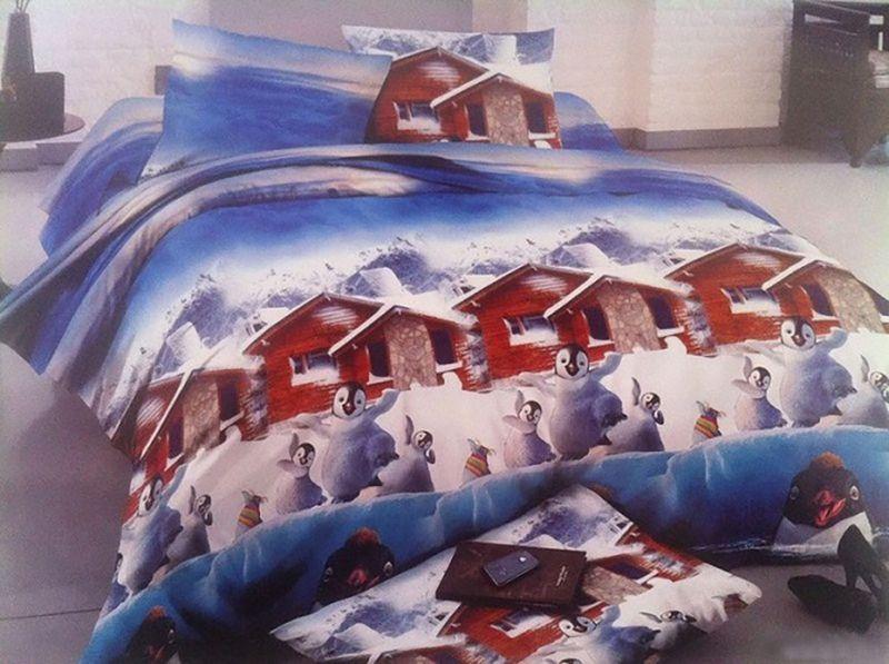 Комплект белья МарТекс Пингвин, евро, наволочки 50х70, 70х70DAVC150Комплект постельного белья МарТекс Пингвин, выполненный из микрополиэстера, состоит из пододеяльника, простыни и четырех наволочек. Изделия оформлены оригинальным рисунком. Такой комплект подойдет для любого стилевого и цветового решения интерьера, а также создаст в доме уют. Приобретая комплект постельного белья МарТекс, вы можете быть уверенны в том, что покупкадоставит вам и вашим близким удовольствие и подарит максимальный комфорт.