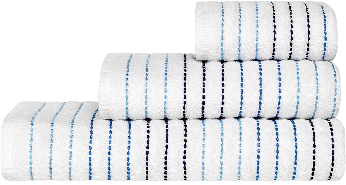 Полотенце Togas Висанто, цвет: белый, синий, 40 х 60 см68/5/3Полотенце Винсанто. Цвет: белый, синий. Ткань: хлопок. Состав: 100% хлопок . Плотность: 550 г/м2. Комплектация: 1 полотенце. Тип:полотенце для рук. Размер: 40 x 60 см. Уход: перед первым использованием изделие необходимо постирать. Рекомендуемая стирка при температуре 30°C, используя отжим на средних оборотах с заполнением барабана не менее 70%. Не пересушивать изделие для сохранения мягкости и пушистости ворса. Гладить не болеее 150°C.Не использовать отбеливатель. Сушка при низкой температуре.