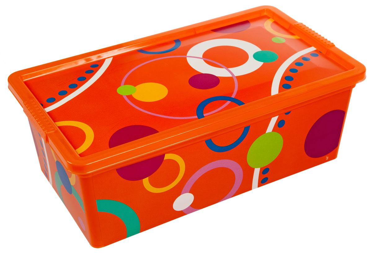 Контейнер для хранения ABM Пузырьки, 5 лS03301004Контейнер ABM Пузырьки выполнен из прочного полипропилена, пригодного и для контакта с пищевыми продуктами. Материал безопасен для здоровья, не токсичен, не имеет запаха, не вызывает аллергических реакций. Внешние стенки изделия декорированы ярким рисунком. В нем удобно хранить различные бытовые вещи, позволит сохранить их в порядке и защитит содержимое от пыли и грязи. Контейнер плотно закрывается крышкой.