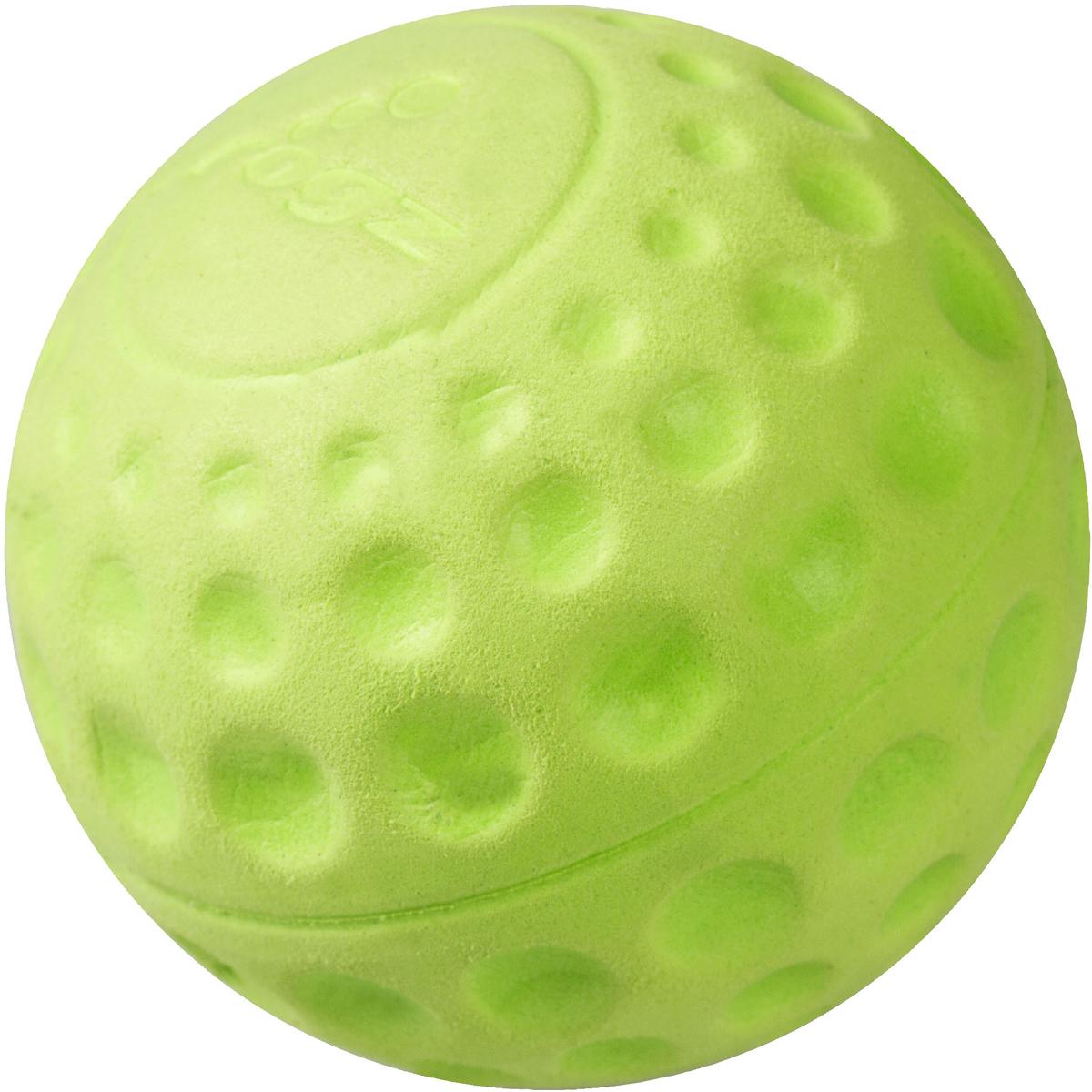 Игрушка для собак Rogz Asteroidz, цвет: лайм, диаметр 7,8 см0120710Мяч предназначен для игры с хозяином Принеси.Небольшой вес, не травмирует десна, не повреждает зубы, удобно носить в пасти.Отличная упругость для подпрыгивания.Изготовлено из особого термоэла-стопласта SEBS, обеспечивающего великолепную плавучесть в воде, поэтому игрушка отлично подходит для игры в водоеме.Материал изделия: EVA (этиленвинилацетат) - легкий мелкопористый материал, похожий на застывшую пену.Не токсичен. 100% EVA (Этиленвинилацетат)