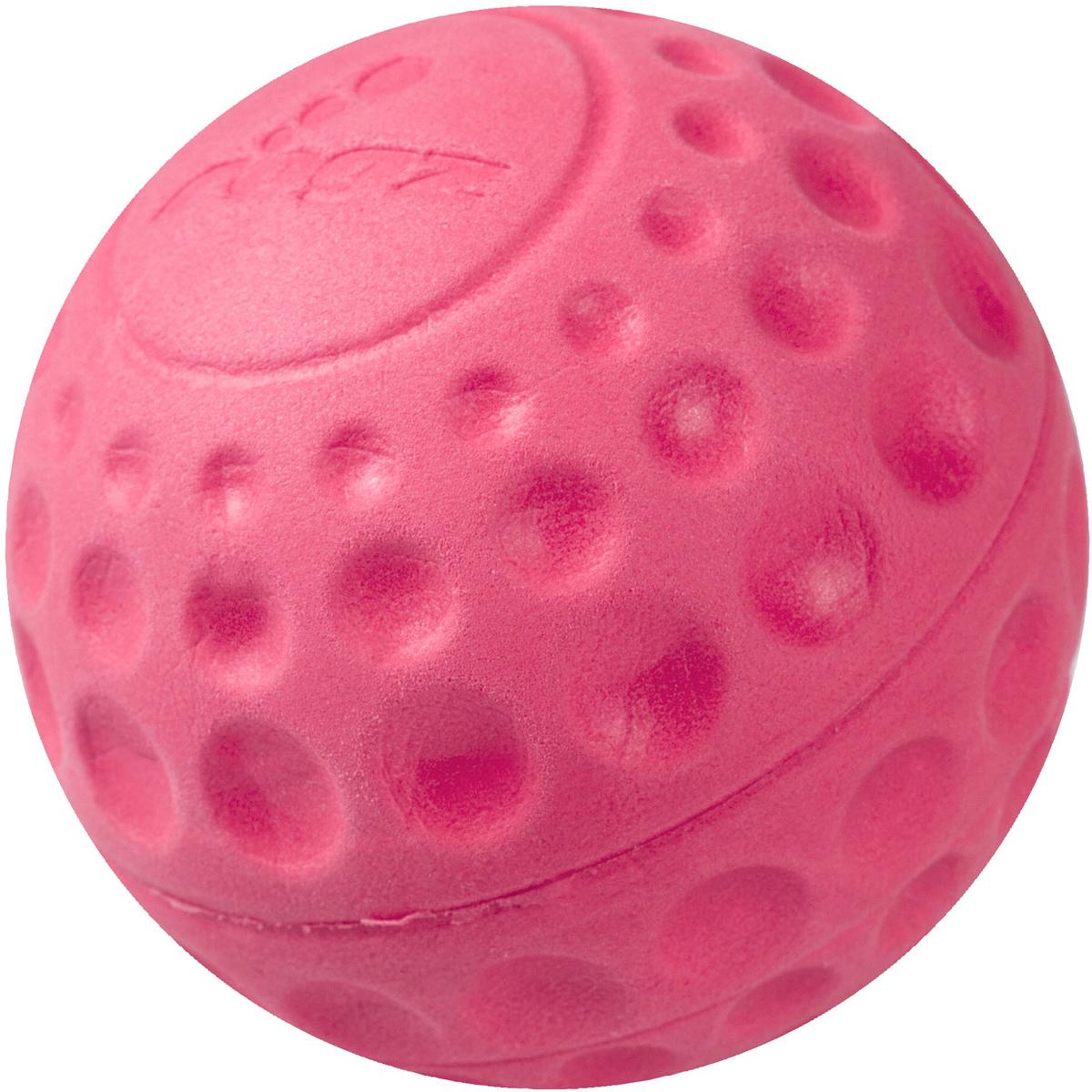 Игрушка для собак Rogz Asteroidz, цвет: розовый, диаметр 6,4 см0120710Мяч предназначен для игры с хозяином Принеси.Небольшой вес, не травмирует десна, не повреждает зубы, удобно носить в пасти.Отличная упругость для подпрыгивания.Изготовлено из особого термоэла-стопласта SEBS, обеспечивающего великолепную плавучесть в воде, поэтому игрушка отлично подходит для игры в водоеме.Материал изделия: EVA (этиленвинилацетат) - легкий мелкопористый материал, похожий на застывшую пену.Не токсичен. 100% EVA (Этиленвинилацетат)
