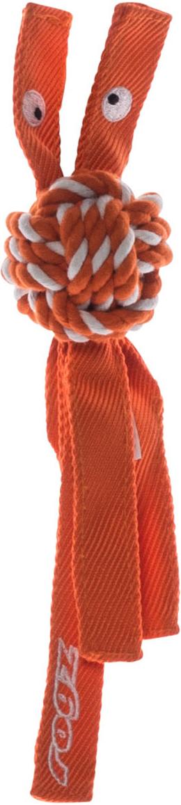 Игрушка для собак Rogz CowBoyz, цвет: оранжевый, 4,9 х 25 см0120710К пищалке, находящейся внутри игрушки, не останется равнодушной ни одна собака, а прочные и крепкие канаты обеспечат достойную тренировку жевательных мышц!Игрушка типа принеси и А ну-ка отними.Игрушка чистит зубы. Термопластичная резина (TPR), хлопок