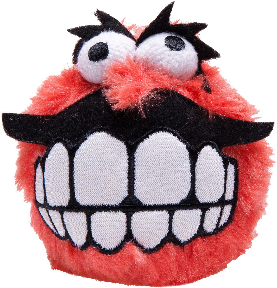 Игрушка для собак Rogz Fluffy Grinz. Зубы, цвет: красный, диаметр 6,4 см0120710Особо мягкие, плюшевые мячи.Для животных, которые любят играть в «Поймай-принеси» - это просто мечта.Небольшой вес изделия.Не травмирует зубы и десна.Удобен для переноски животным.Внутри игрушки – пищалка, что поддерживает интерес животного к игре. Полиэстер, синтетический наполнитель