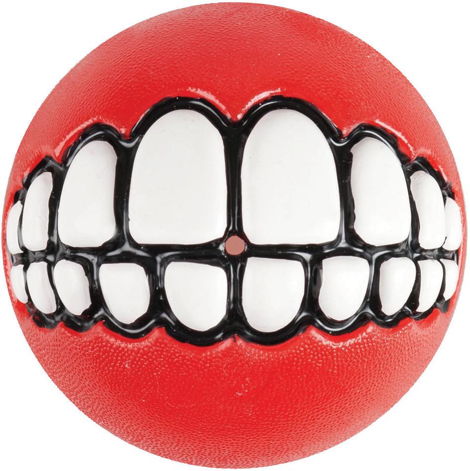 Игрушка для собак Rogz Grinz. Зубы, с отверстием для лакомства, цвет: красный, диаметр 4,9 см0120710Легендарные мячи Grinz поднимут настроение каждому!Игрушка со смещённым центром тяжести устроена так, что собака всегда будет поднимать ее вверх зубами.Есть отверстие для лакомства.Мяч отлично подпрыгивает при играх.Изготовлено из особого термоэла-стопласта SEBS, обеспечивающего великолепную плавучесть в воде.Материал изделия: каучук. Термопластичная резина (TPR)