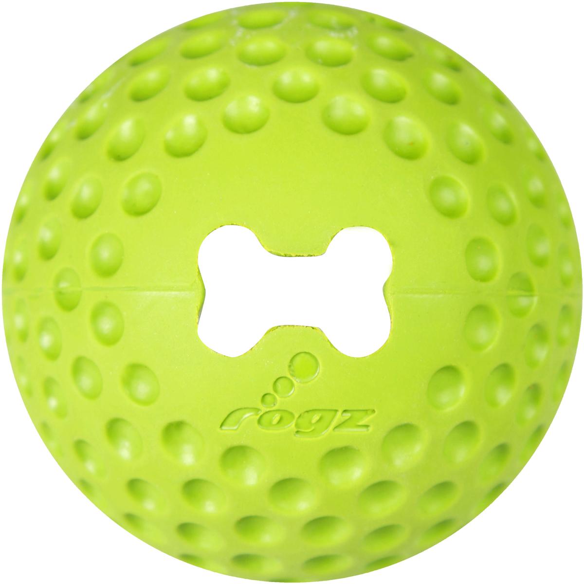Игрушка для собак Rogz Gumz, с отверстием для лакомства, цвет: лайм, диаметр 6,4 см0120710Игрушка тренирует жевательные мышцы и массирует десны собаке.Отлично подходит для дрессировки, так как есть отверстие для лакомства.Отлично подпрыгивает при играх.Занимательная игрушка выдерживает долгое жевание и разгрызание.Материал изделия: 85 % натуральной резины, 15 % синтетической резины.Не токсичен. 85% натуральная резина, 15% искусственный каучук.
