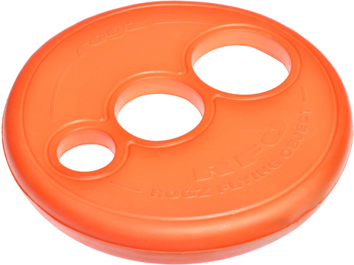 Игрушка для собак Rogz RFO. Тарелка, цвет: оранжевый, диаметр 23 см. RF020120710Аэродинамичный дизайн со специально подобранным размером отверстий для усиления летательных свойств.Небольшой вес, не травмирует десна, не повреждает зубы.Плотные края и различные размеры отверстий для удобства держания в руке и пасти.Максимальная видимость.Отличная плавучесть.Материал изделия: EVA (этиленвинилацетат) - легкий пористый материал, похожий на застывшую пену.Не токсичен. 100% EVA (Этиленвинилацетат)