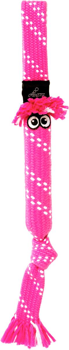 Игрушка для собак Rogz Scrubz. Сосиска, цвет: розовый, длина 54 см0120710Прочная и крепкая игрушка для обеспечения достойной тренировки жевательных мышц!Внутри игрушки – пищалка, что поддерживает интерес животного к игре.«Хрустящая» поверхность для поддержания длительного интереса к игрушке.Интерактивная игрушка – присутствует универсальная ручка из плотного материала для удобства броска хозяином. Термопластичная резина (TPR), хлопок
