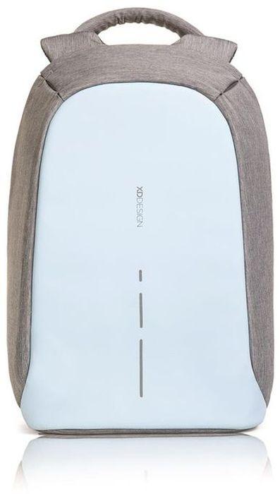 Рюкзак для ноутбука XD design Bobby Compact, до 14, цвет: серый, голубой, 11 лЛЦ0046Рюкзак для ноутбука до 14 XD design Bobby Compact - это второе поколение противоугонного рюкзака меньшего размера. Несмотря на то, что габариты изделия стали меньше, благодаря продуманному расположению и устройству отделений влезет все, что может пригодиться в течение дня.Преимущества: • Полная защита от карманников: не открыть, не порезать.• Вшитый USB-порт для зарядки гаджетов.• Светоотражающие полосы.• Супер-легкий: на 25% легче аналогов.• Отделение для ноутбука до 14.• Отделение для планшета.• Чехол-кошелек для мелких аксессуаров.• Крепления для бутылки воды и камеры.