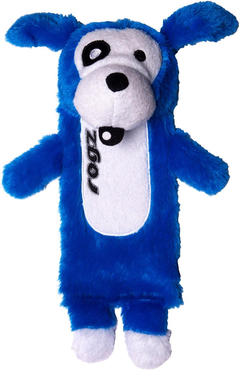 Игрушка для собак Rogz Thinz. Собака, цвет: синий, длина 26 см0120710Есть возможность поместить в игрушку пластиковую бутылку для дополнительного интереса у собаки.Для животных, которые любят играть в «Поймай-принеси» - это просто мечта.Небольшой вес изделия. Игрушка не травмирует зубы и десна.Удобна для переноски животным.Внутри игрушки – пищалка, что поддерживает интерес животного к игре. Полиэстер, синтетический наполнитель