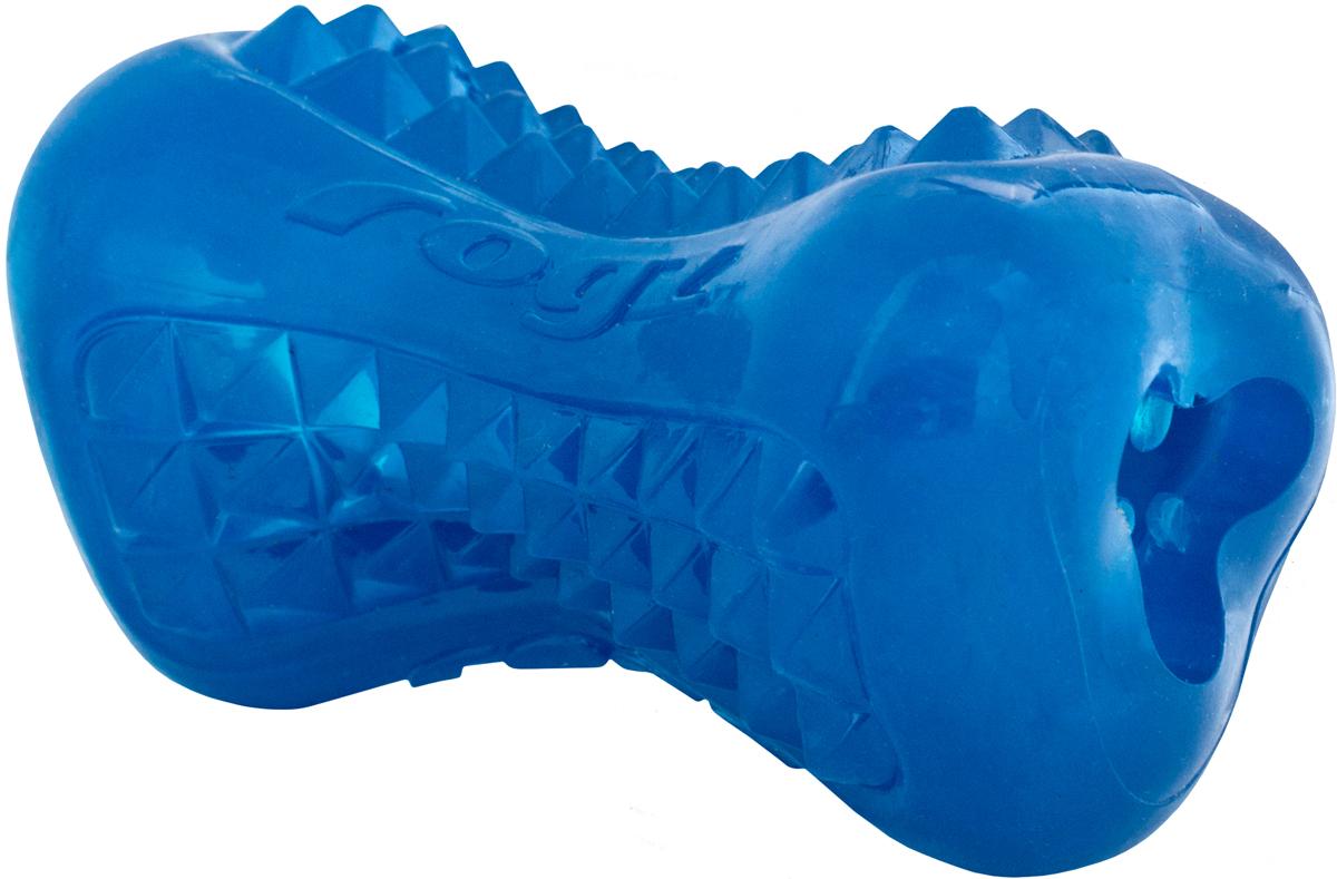 Игрушка для собак Rogz Yumz. Косточка, цвет: синий, длина 11,5 см0120710Игрушка с массажными насечками.Внутри отверстие для угощения.Идеальна для жевания и разгрызания.Материал не токсичен. 85% натуральная резина, 15% искусственный каучук.