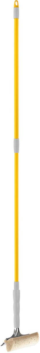 Стеклоочиститель Apex Telescopico, с телескопической ручкой, цвет: серый, желтыйS03301004Стеклоочиститель Apex Telescopico, выполненный из пластмассы и стали, станет незаменимым помощником при уборке. Он стирает жидкость со стекла благодаря мягкой губке, а для полного вытирания имеется резиновая кромка. Насадка из поролона может использоваться отдельно. Стеклоочиститель имеет крепление к телескопической ручке. Длина ручки: 88-144 см.Ширина рабочей поверхности: 20 см.