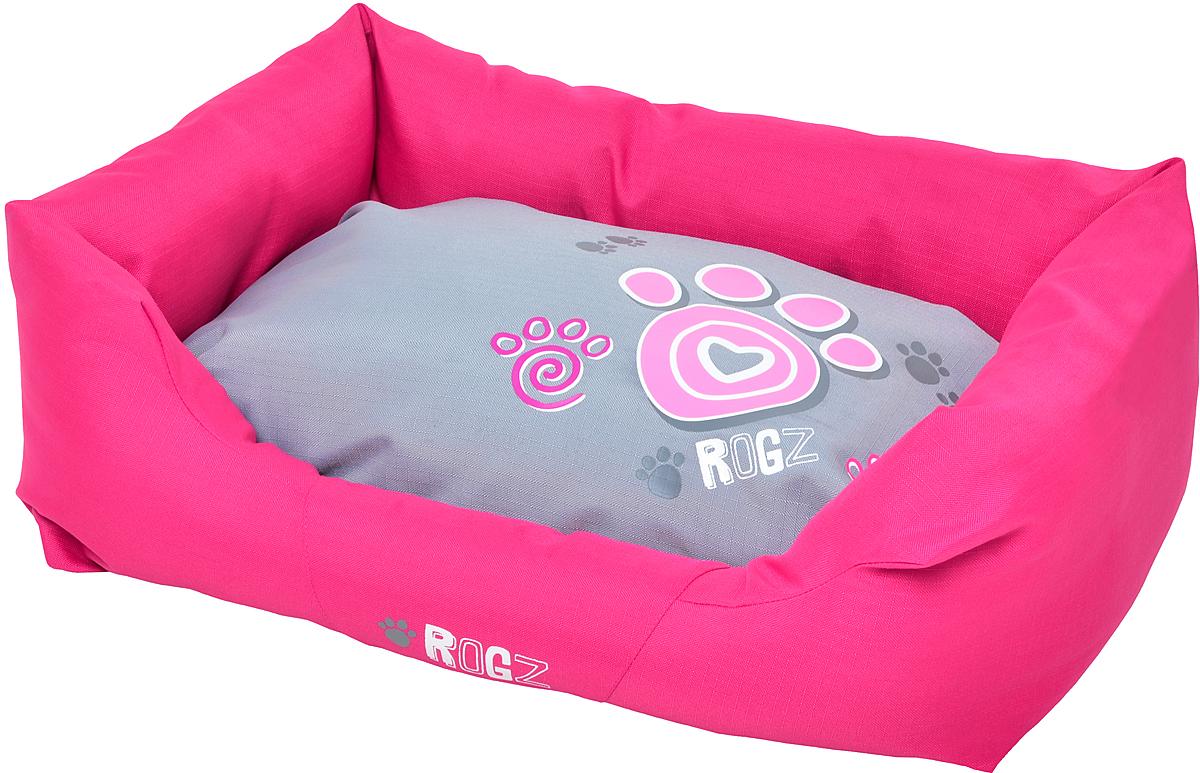 Лежак для собак Rogz Spice Podz, цвет: розовый, 29 х 90 х 59 см. PPLCA0120710Лежак с бортиком и двусторонней подушкой.Особопрочная ткань Ripstop с водоотталкивающим покрытием обладает также грязеотталкивающими свойствами.Дизайн 2 в 1.Съемный чехол на молнии.Высокая надёжность и долговечность.Машинная стирка. Полиэстер, хлопок, полиэстер с покрытием рип-стоп.