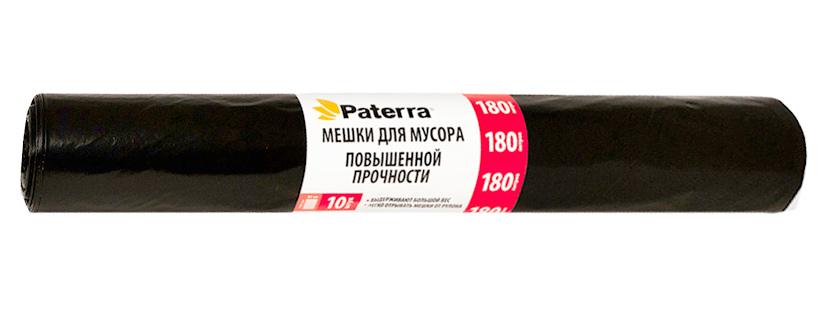 Мешки для мусора Paterra Profi, 180 л, 10 шт10503Мешки Paterra Profi, выполненные извысокопрочного и эластичного полиэтилена, обеспечатчистоту и гигиену в квартире. Они удобны для сбора иутилизации мусора,занимают мало места, практичны в использовании. Благодаря удобным размерам, мешки легко вкладываются в ведро.Количество: 10 шт.