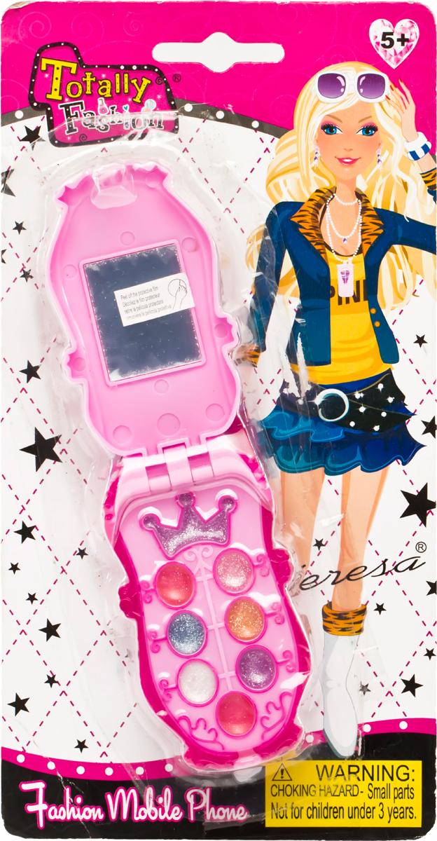 Totally Fashion Набор детской декоративной косметики Телефон5010777142037В наборе: блеск для губ- 6 тонов, тени- 4 тона, аппликатор с маленькой кисточкок. Имеется ПАСПОРТ БЕЗОПАСНОСТИ МАТЕРИАЛА. Макияж можно снять, с помощью ватного диска, используя средство для снятия макияжа или просто тёплой водой. Для снятия лака не нужны специальные средства: лак постепенно смывается водой, при мытье рук в течение 2-х дней, или же его можно удалить с помощью детского масла.Наверное, каждая девочка завороженно смотрит на маму, когда та красится и приводит себя в порядок. Ведь так хочется быть на нее похожей, быть такой же красивой. С детским набором для макияжа это стало реальностью. В арсенале маленькой модницы тени, аппликатор и блеск для губ - все, чтобы подчеркнуть естественную и натуральную красоту.