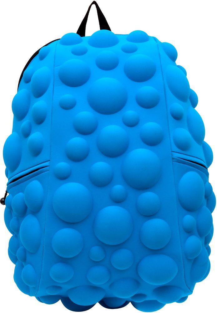 Рюкзак городской MadPax Bubble Full, цвет: голубой, 32 лBP-001 BKРюкзаки серии Full отлично подойдут для старшеклассников и взрослых. Яркий, с оригинальным 3D дизайном, ортопедической спинкой он станет незаменимым спутником любого школьника и взрослого.Рюкзак удобен не только для использования в школе, но и отлично подойдет для катания на роликах, скейтах, велосипедах. Он идеален для всех кто любит активный образ жизни.Все 3D элементы мягкие и вы можете не беспокоится о своей безопасности и безопасности окружающих.Ортопедическая спинка поможет избежать искривления позвоночника. Мягкие воздухопроницаемые широкие лямки (6 см) с нагрудным ремнем правильно распределят вес.Особенности:одно основное отделение на молнииотделение для ноутбука до 17мягкие воздухопроницаемые широкие лямки (6 см)нагрудный ременьортопедическая спинка с мягкой обивкойдва боковых кармана на молнии