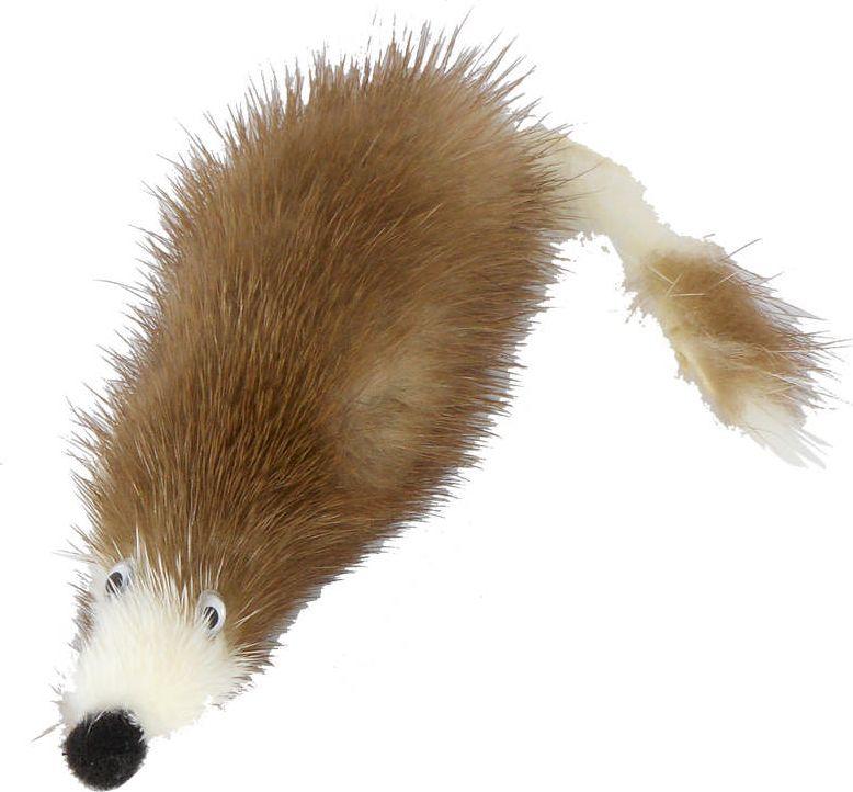Игрушка для кошек GoSi Мышь из норки, 5 см0120710Игрушка Мышь из норки GoSi, натуральная норка, 5см, развивающая игра, удовлетворение охотничьих инстинктов, балансировка нервной системы, повышение мышечного тонуса, правильное развитие скелета, рекомендовано фелинологами