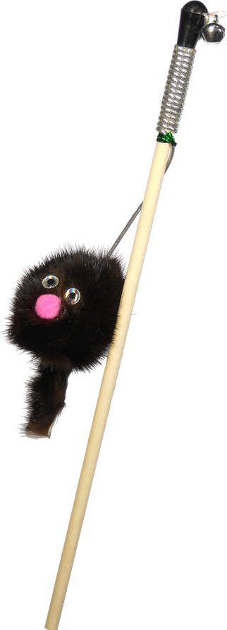 Дразнилка-удочка для кошек GoSi Зверек из норки, длина 50 см0120710Игрушка для кошки дразнилка Зверек из норки удочка GoSi, натуральная норка, длинна 50см, деревянная палочка, развивающая игра, удовлетворение охотничьих инстинктов, балансировка нервной системы, повышение мышечного тонуса, правильное развитие скелета, рекомендовано фелинологами