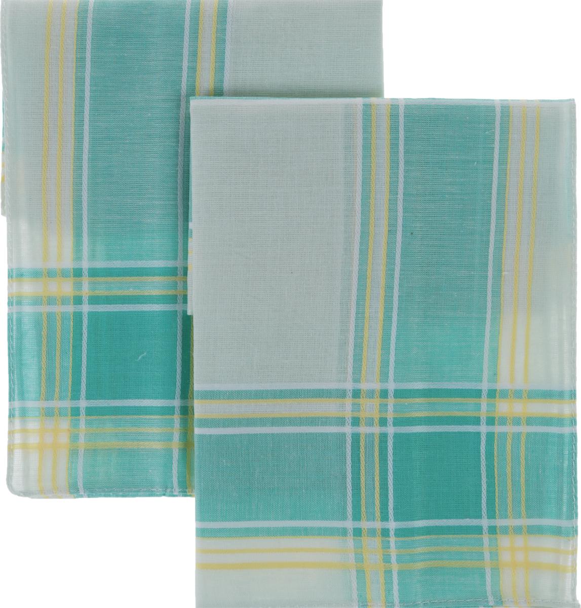 Платок носовой женский Zlata Korunka, цвет: желтый, зеленый, 4 шт. 71417. Размер 27 х 27 смСерьги с подвескамиЖенские носовые платки Zlata Korunka изготовлены из натурального хлопка, приятны в использовании, хорошо стираются, материал не садится и отлично впитывает влагу. В упаковке 4 штуки.