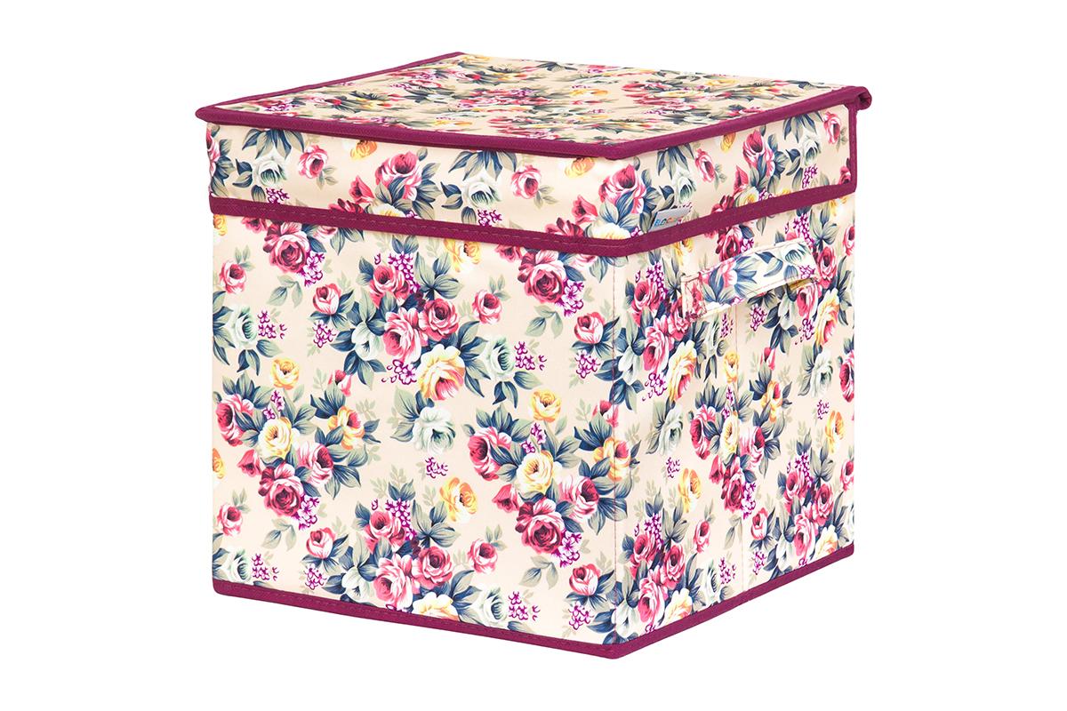Кофр для хранения вещей EL Casa Розовый букет, складной, 28 х 28 х 28 см531-401Кофр для хранения представляет собой закрывающуюся крышкой коробку жесткой конструкции, благодаря наличию внутри плотных листов картона. Специально предназначен для защиты Вашей одежды от воздействия негативных внешних факторов: влаги и сырости, моли, выгорания, грязи. Благодаря оригинальному дизайну кофр будет гармонично смотреться в любом интерьере.