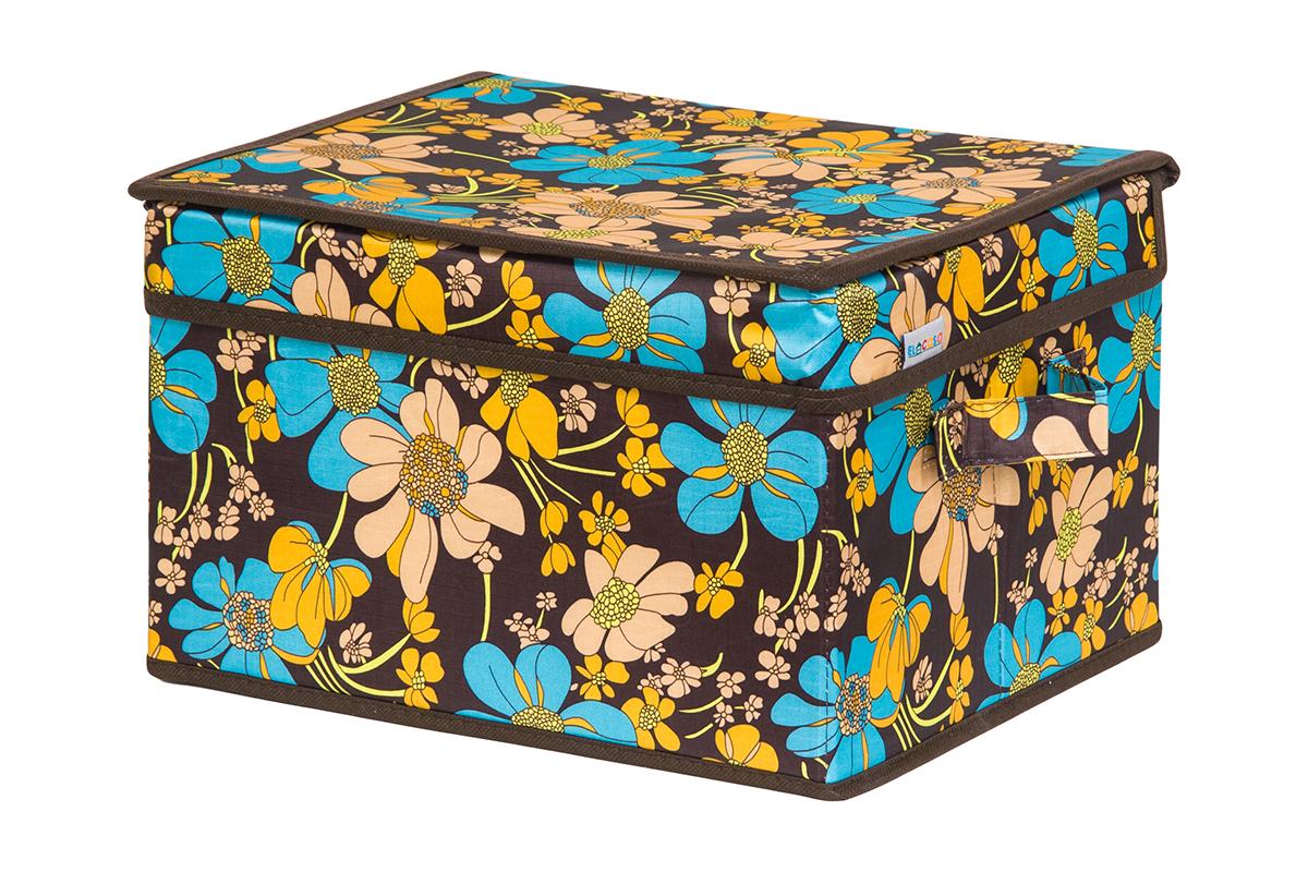 Кофр для хранения вещей EL Casa Ромашковое поле, складной, 32 х 27 х 20 смUP210DFКофр для хранения представляет собой закрывающуюся крышкой коробку жесткой конструкции, благодаря наличию внутри плотных листов картона. Специально предназначен для защиты Вашей одежды от воздействия негативных внешних факторов: влаги и сырости, моли, выгорания, грязи. Благодаря оригинальному дизайну кофр будет гармонично смотреться в любом интерьере.