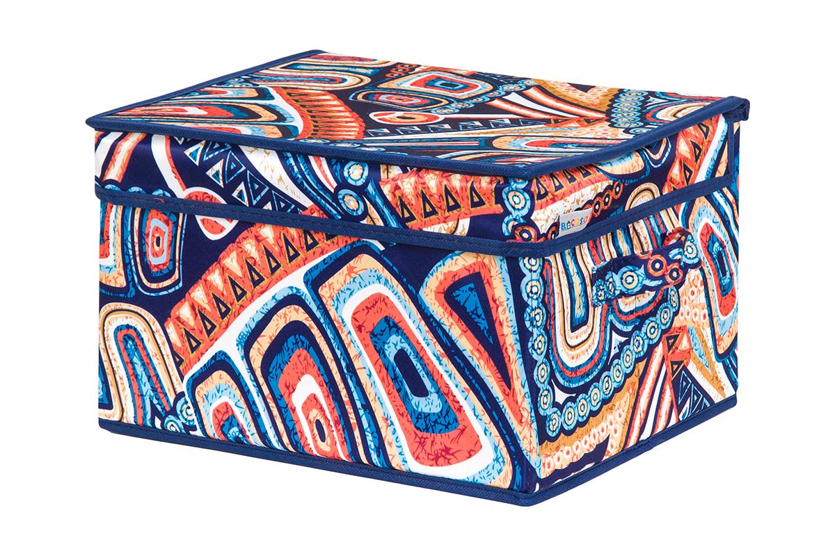 Кофр для хранения вещей EL Casa Мексика, складной, 32 х 27 х 20 смUP210DFКофр для хранения представляет собой закрывающуюся крышкой коробку жесткой конструкции, благодаря наличию внутри плотных листов картона. Специально предназначен для защиты Вашей одежды от воздействия негативных внешних факторов: влаги и сырости, моли, выгорания, грязи. Благодаря оригинальному дизайну кофр будет гармонично смотреться в любом интерьере.
