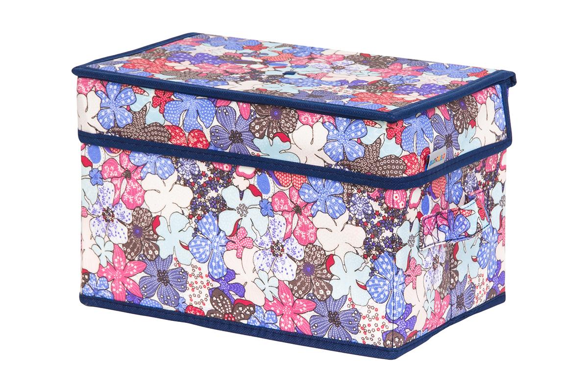 Кофр для хранения вещей EL Casa Цветочное созвездие, складной, 28 х 18 х 18 см10503Кофр для хранения представляет собой закрывающуюся крышкой коробку жесткой конструкции, благодаря наличию внутри плотных листов картона. Специально предназначен для защиты Вашей одежды от воздействия негативных внешних факторов: влаги и сырости, моли, выгорания, грязи. Благодаря оригинальному дизайну кофр будет гармонично смотреться в любом интерьере.