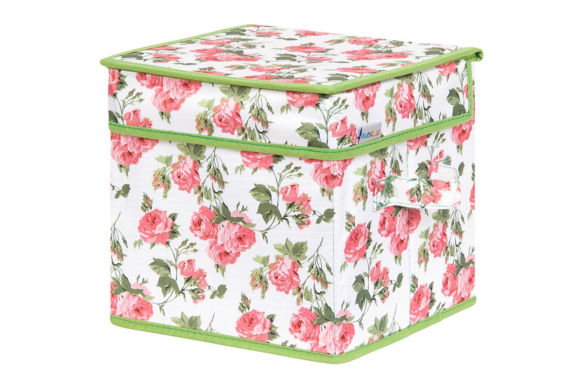 Кофр для хранения вещей EL Casa Розовый рассвет, складной, 22 х 22 х 22 смUP210DFКофр для хранения представляет собой закрывающуюся крышкой коробку жесткой конструкции, благодаря наличию внутри плотных листов картона. Специально предназначен для защиты Вашей одежды от воздействия негативных внешних факторов: влаги и сырости, моли, выгорания, грязи. Благодаря оригинальному дизайну кофр будет гармонично смотреться в любом интерьере.