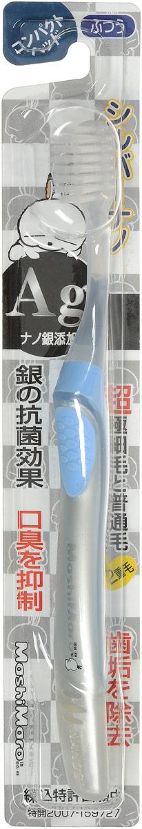 EQ MaxON Зубная щетка c наночастицами серебра, средняя жесткость, цвет: голубой4605845001470Зубная щетка EQ MaxON разработана по новейшей технологии с добавлением наночастиц серебра, которые препятствуют размножению бактерий и помогают устранить неприятный запах во рту. Двойная щетина способствует эффективному удалению налета с зубов. Ультратонкие и мягкие заостренные верхние щетинки глубоко проникают в труднодоступные для обычных зубных щеток промежутки между зубами. Закругленные нижние щетинки прекрасно удаляют налет на поверхности стыка зубов и на боковых поверхностях.Товар сертифицирован.