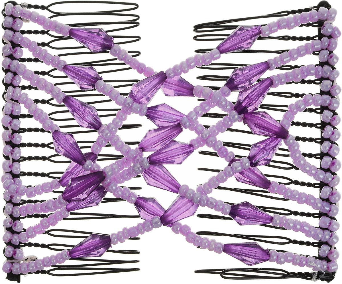 EZ-Combs Заколка Изи-Комбс, одинарная, цвет: сиреневый, фиолетовый. ЗИО_конусMP59.4DУдобная и практичная заколка EZ-Combs подходит для любого типа волос: тонких, жестких, вьющихся или прямых, и не наносит им никакого вреда. Заколка не мешает движениям головы и не создает дискомфорта, когда вы отдыхаете или управляете автомобилем. Каждый гребень имеет по 20 зубьев для надежной фиксации заколки на волосах. И даже во время бега и интенсивных тренировок в спортзале EZ-Combs не падает; она прочно фиксирует прическу, сохраняя укладку в первозданном виде.Небольшая и легкая заколка для волос EZ-Combs поместится в любой дамской сумочке, позволяя быстро и без особых усилий создавать неповторимые прически там, где вам это удобно. Гребень прекрасно сочетается с любой одеждой: будь это классический или спортивный стиль, завершая гармоничный облик современной леди. И неважно, какой образ жизни вы ведете, если у вас есть EZ-Combs, вы всегда будете выглядеть потрясающе.