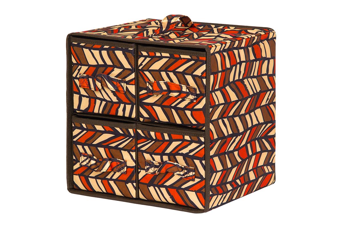 Кофр для хранения вещей EL Casa Африка, складной, 30 х 25 х 30 см10503Кофр предназначен для хранения различных вещей и состоит из 4 вместительных выдвижных секций. Такой необычный и яркий комод надежно защитит вещи от загрязнений, пыли и моли, а также позволит вам хранить их компактно и с удобством.